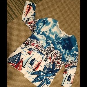 Beautiful Riviera Vacation Sweater PL